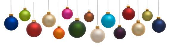 färgrika prydnadar för jul Arkivbild