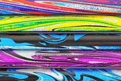 färgrika psychedelic leadblyertspennor Royaltyfria Bilder