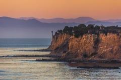 Färgrika Rancho Palos Verdes Sunset fotografering för bildbyråer