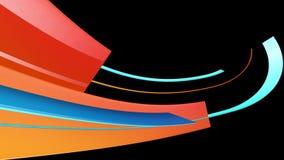 Färgrika randiga linjer flyttningar stock illustrationer
