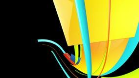 Färgrika randiga linjer flyttningar vektor illustrationer