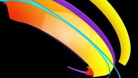 Färgrika randiga linjer flyttningar royaltyfri illustrationer