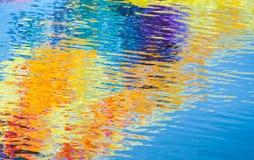 Färgrika reflexioner, abstrakt bakgrund Royaltyfri Fotografi