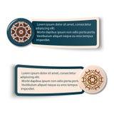 Färgrika rengöringsduketiketter, etiketter och etiketter Arkivfoto