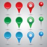 Färgrika rengöringsdukknappar, checkboxes Arkivfoto