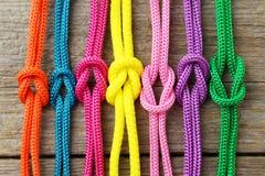 färgrika rep Fotografering för Bildbyråer