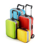 Färgrika resväskor Arkivbild