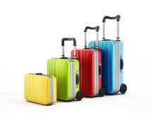 Färgrika resväskor Arkivbilder