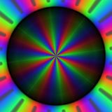 Färgrika rgb-strålar av ljus i rund modell Royaltyfri Illustrationer