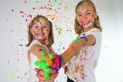 färgrika roliga ungar royaltyfria bilder