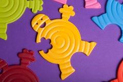 färgrika rubber toys Fotografering för Bildbyråer
