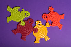 färgrika rubber toys Royaltyfri Bild