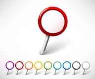 Färgrika runda markörer vektor illustrationer