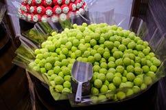 Färgrika runda sötsaker för tennisboll, runda sockergodisar Royaltyfri Foto