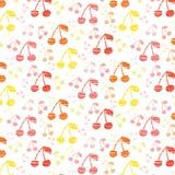 Färgrika sömlösa Cherry Background Arkivbild