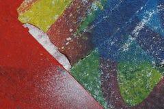 Färgrika sönderrivna gamla affischer som abstrakt färgrik texturerad backgro Royaltyfria Foton