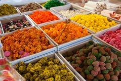 Färgrika sötsaker arkivfoton