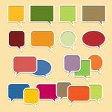 Färgrika samtalbubblabaner royaltyfri illustrationer