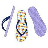 färgrika sandals Arkivfoto