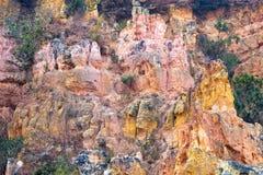 Färgrika sandstenberg Arkivbilder