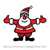 Färgrika Santa Claus på vit bakgrund Arkivbilder