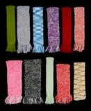 färgrika scarfs Arkivbild