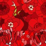 färgrika seamless wallpapers stock illustrationer