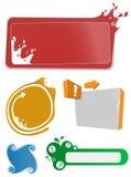 färgrika setmallar för baner Royaltyfria Bilder