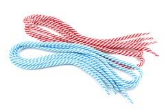 Färgrika shoelaces Arkivbilder