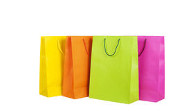 Färgrika shoppingpåsar Arkivfoton