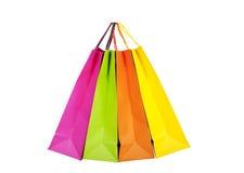 Färgrika shoppingpåsar Royaltyfri Bild