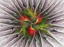 Färgrika sidor för Fractal Royaltyfria Foton