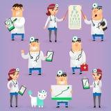 Färgrika sjukhusdoktorer Arkivfoton