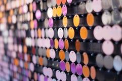 Färgrika skinande bakgrundscirklar Royaltyfri Foto