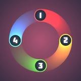 Färgrika skinande Infographic beståndsdelar. Royaltyfri Foto