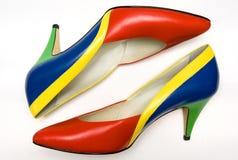 färgrika skor Royaltyfri Foto