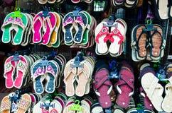Färgrika skor Arkivbilder