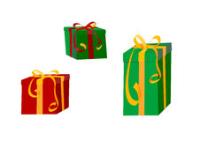 färgrika slågna in gåvapresents vektor illustrationer