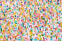 Färgrika slaglängder för akrylfärgborste arkivbild