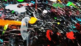 Färgrika slaglängder för målarfärgborste Royaltyfri Fotografi