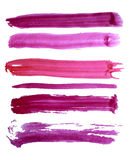 Färgrika slaglängder för vektorvattenfärgborste Royaltyfri Foto