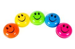 Färgrika smileys Royaltyfri Bild