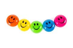 Färgrika smileys Fotografering för Bildbyråer