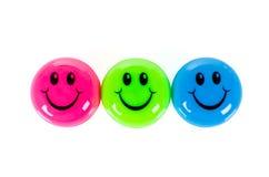 Färgrika smileys Arkivfoto