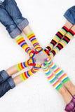 Färgrika sockor Royaltyfria Bilder