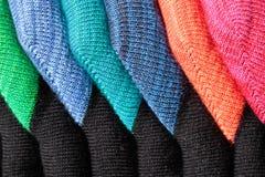 färgrika sockor Arkivbilder
