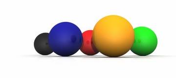 färgrika spheres Arkivbild
