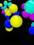 färgrika spheres Royaltyfri Bild