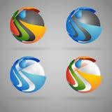 färgrika spheres Arkivfoton