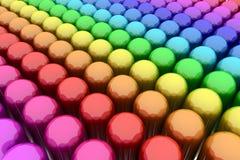 färgrika spheres Arkivfoto